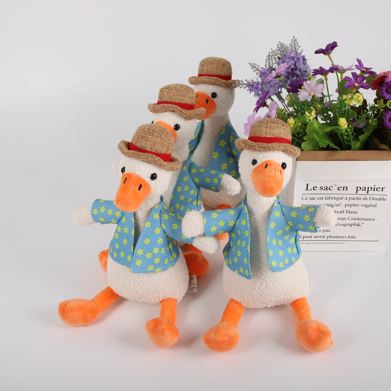 Cute Funny Come on 30cm Duck Plush Toys Lovely Stuffed Cotton Hat Duck Plush Doll Birthday Gift For Children Kids Figure Toys