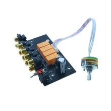 Yeni hifi ses 4 çift RCA girişi kaynağı seçici sinyal seçici anahtarlama Preamp güç amplifikatörü 4 IN 1 OUT