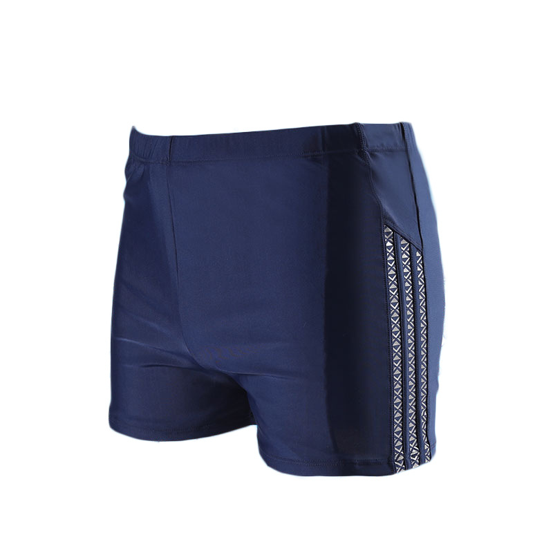 Black Purplish Blue Solid Color Boxer Men's Sports Comfortable Beach Pants Swimming Boxers Beach Shorts Amazon Hot Selling Whole