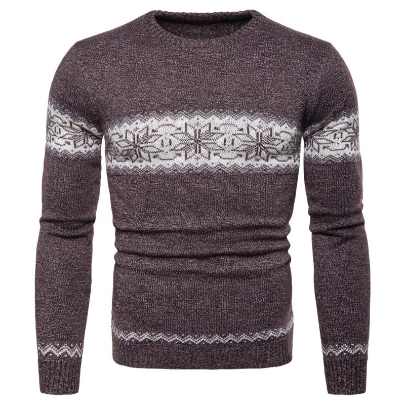 2020 New Winter Man Full Sleeve Sweater Fashion Knitted O-Neck Collar Male Pullover Casual Slim Fit Sweater For Men Plus Size