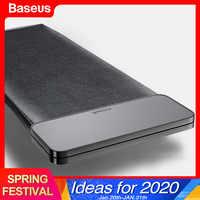 Baseus magnético organizador do carro de couro de armazenamento de carro auto bolsa saco caixa de bolso titular para o cartão do telefone banco traseiro acessórios do carro