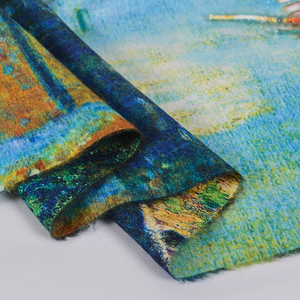Image 4 - [BYSIFA] כחול חורף צעיפי צעיפי אופנה Utralong קשמיר פשמינה מודפס 200*70cm גבירותיי צוואר צעיף חיג אב echarpes chales