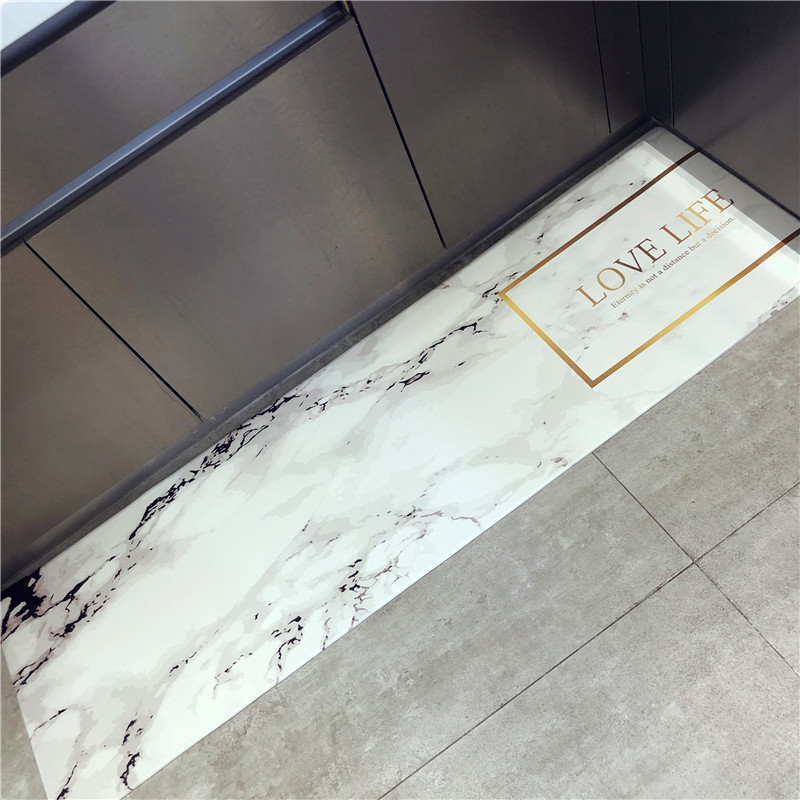Bed Optimizer Marbles 3d Kitchen Mat  Door  Anti-slip Waterproof Bath S 45cmx75cm 45cmx120cm 45cmx150cm Carpet Rugs