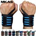 MKAS 1 пара наручная повязка для тяжелой атлетики, тренажерного зала, перекрестных тренировок, фитнеса, мягкий фиксатор для большого пальца, м...