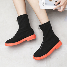 Colorful Rubber Boots Women Fashion Slip On Ankle 2019 New Fall Orange Green Black Glitter