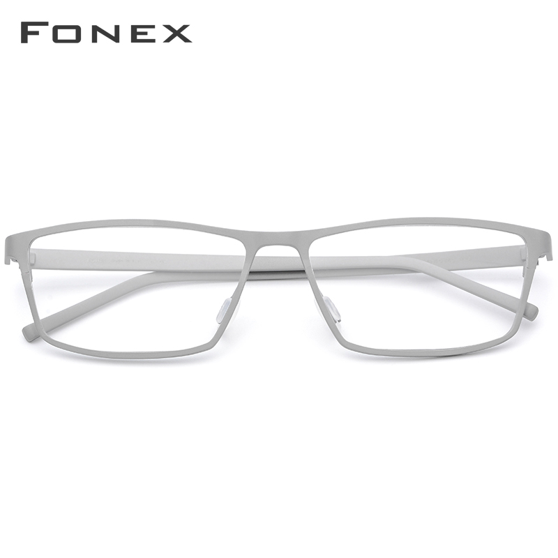 FONEX Pure Titanium Eyeglasses Frame Men Prescription Eye Glasses for Men Square Glasses Male Myopia Optical Frames Eyewear 871