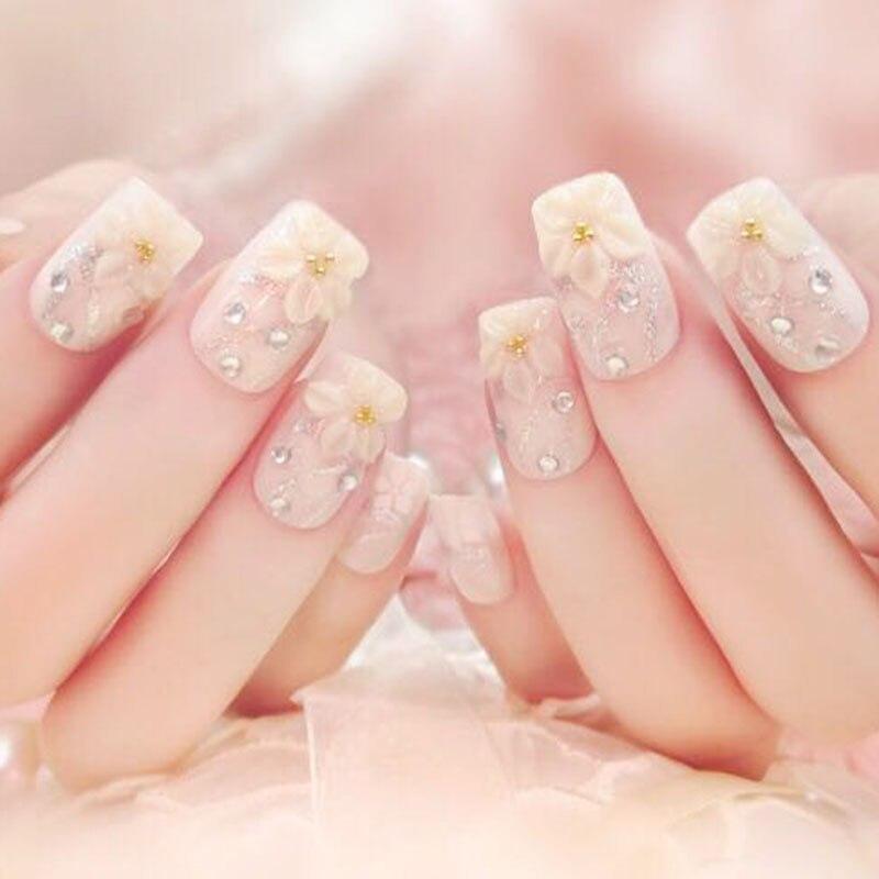 de unhas completas com strass glitter noiva