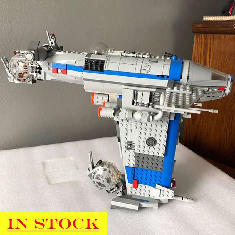In Stock 05129 Star Series Wars The Resistance Bomber 873Pcs Star Wars Seriers Model Building Blocks Compatible with <font><b>75188</b></font> Toys image