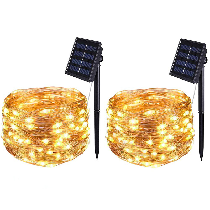 2Set 5M 50Led Solar Lights String Outdoor Lamp Solar LEDs String Light Fairy Holiday Christmas Party Garland Waterproof Lights
