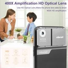 Lente per microscopio Ulanzi 400X per custodia per telefono iPhone 11 Pro con lente ottica per microscopio digitale