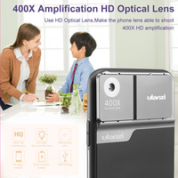 Ulanzi 400X Mikroskop objektiv für iPhone 11/11 Pro/11 Pro Max Telefon fall mit Digital Mikroskop Optische linse|Handy-Objektive|   -