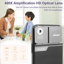 Ulanzi lente de microscopio para 11 Pro, 400X, funda de teléfono con lente óptica de microscopio Digital