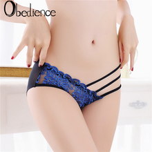 Women Sexy Underwear Lace Briefs Panties Super Thin Hollow breathable sexy lace panties embroidered womens hip mesh gauze 2019