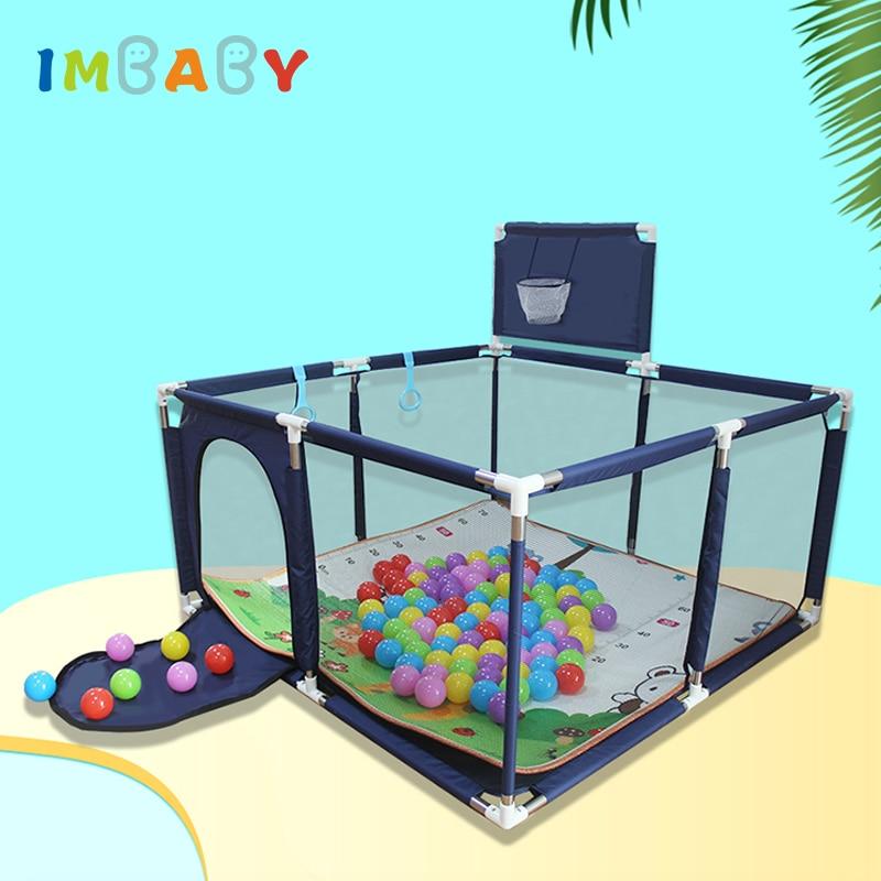 Детский манеж IMBABY для детской площадки, детская мебель, бассейны для детей, сухой бассейн, Шариковая яма