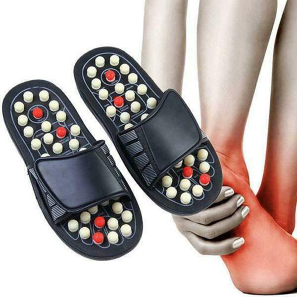 Women Men Acupressure Points Massage Shoes 1 Pair Magnetic Reflexology Slippers Pain Relief Foot Relaxation Healthy Care Shoes