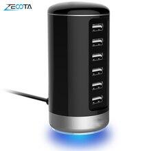 스마트 USB 충전기 6 포트 실린더 벽 전화 충전 스테이션 안드로이드 애플 아이폰 7 플러스 iPad 프로/에어 2 LG