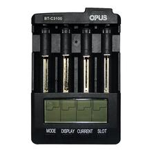 Lithium-Battery-Charger Rechargeable Opus bt-C3100 Functional Smart Four-Slots Lcd-Screen