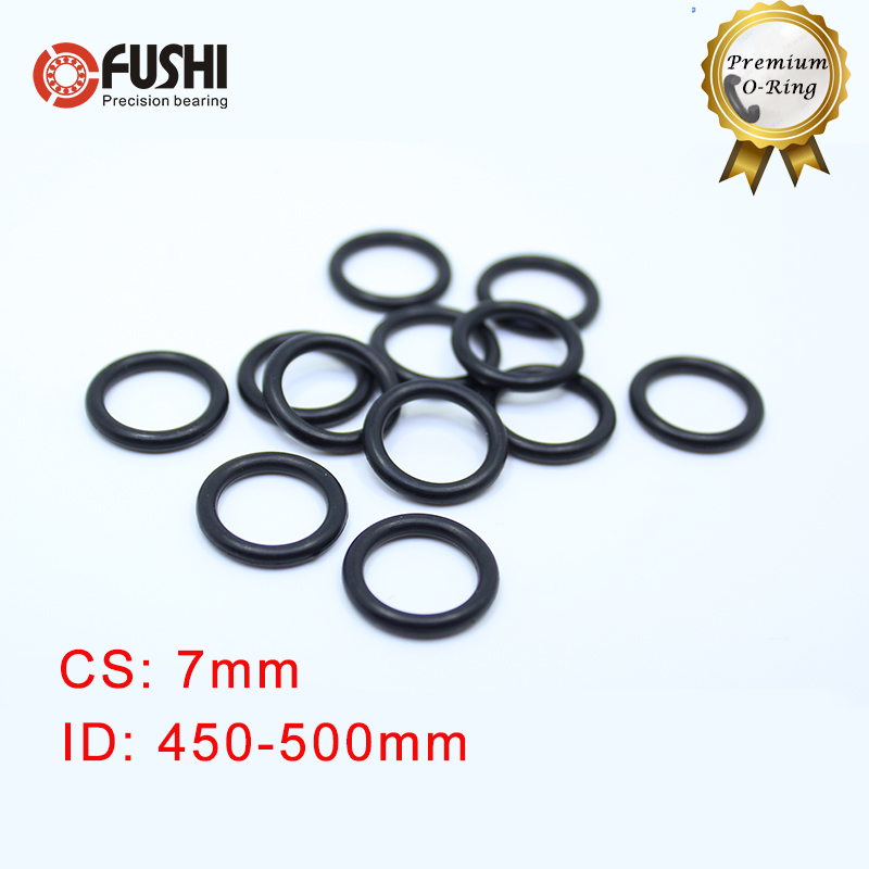 CS7mm NBR Rubber <font><b>O</b></font> <font><b>RING</b></font> ID 450/462/470/475/487/500*7 mm 5PCS <font><b>O</b></font>-<font><b>Ring</b></font> Nitrile Gasket seal Thickness <font><b>7mm</b></font> ORing image