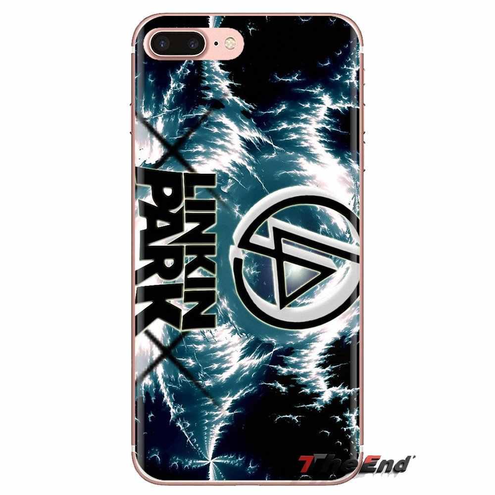 Pour HTC U11 Un M7 M8 A9 M9 M10 E9 Désir 630 530 626 628 816 820 Motorola G G2 G3 Téléphone Logement Linkin Park Logo punk D'art de groupe