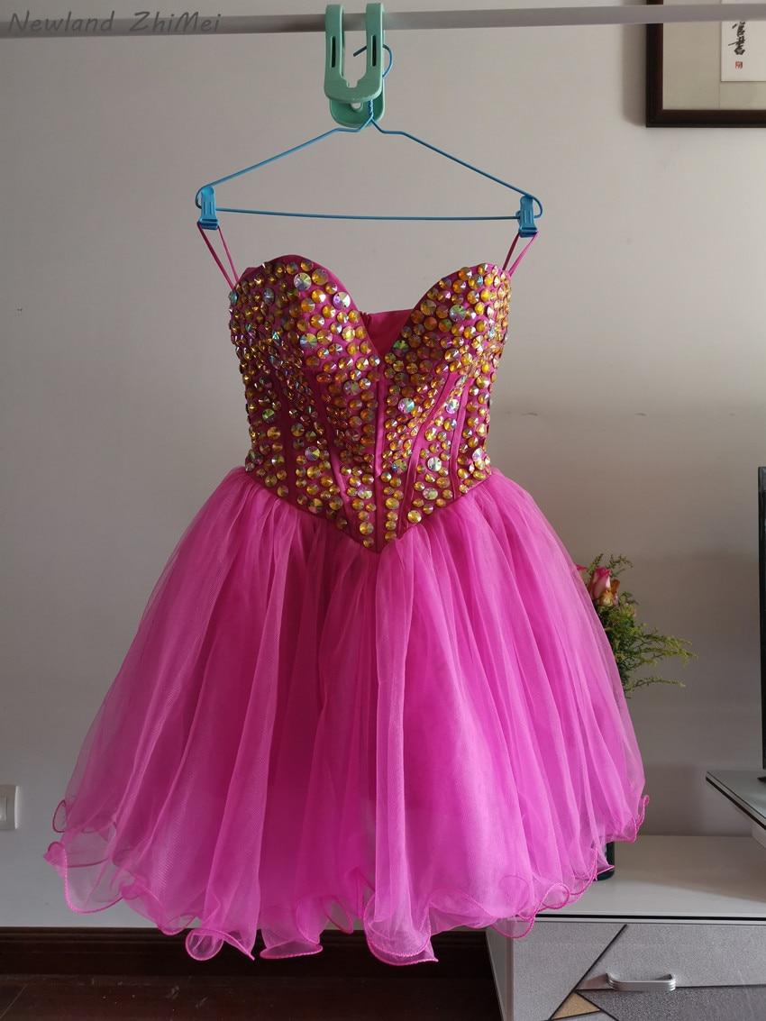 Sexy Rhinestones Cocktail Dresses 2016 New Fashion Mini Short Teenagers Dress for Special Occasion vestido de festa curto