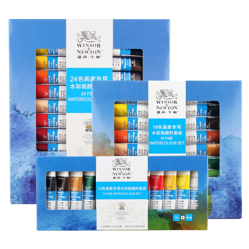 Winsor&Newton 12/18/24Color Professional Watercolor Paint Premium Water Color Pigment For Artist Painting Drawing Art Supplies