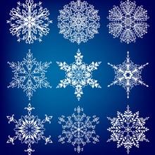 AZSG различные Рождественские снежинки прозрачные штампы для DIY скрапбукинга/открыток декоративный силиконовый штамп ремесла