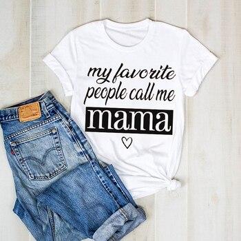 Camiseta con estampado de letras bonitas para mujer, camiseta gráfica para mamá y madre, camiseta femenina, camiseta para mujer, camiseta para mujer, camiseta, ropa, camiseta