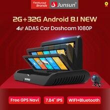 Junsun E95P Pro 4G ADAS Автомобильный видеорегистратор Android 8,1 WiFi DVR камера FHD 1080P двойной объектив Авто видеорегистратор навигатор gps монитор парковки