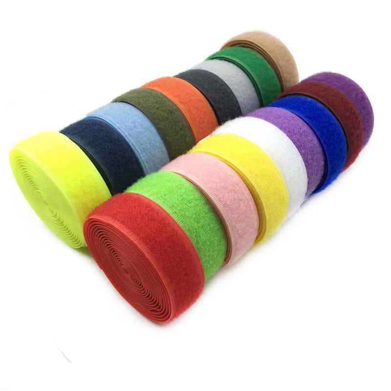 1meter 2cm width colored adhesive tape nylon hook and loop fastener for shoe repair