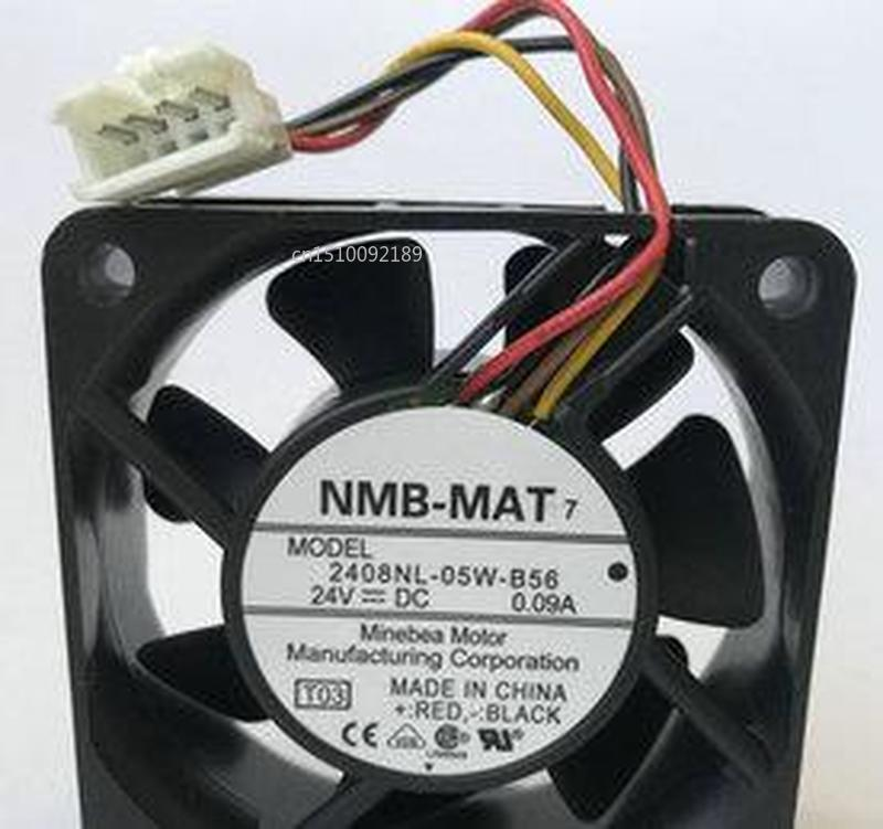 For Original NMB 2408NL-05W-B56 24V 0.09A 60*60*20 Four Wire Cooling Fan Free Shipping