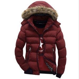 Image 5 - 2020 브랜드 뉴 겨울 자 켓 남자 따뜻한 자 켓 9 색 패션 브랜드 모피 후드 모자 남자 Outwear 코트 캐주얼 두꺼운 망 4XL