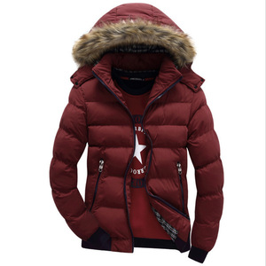 Image 5 - 2020 Brand New Winter Jacket Men Warm Down Jacket 9 Color Fashion Brand With Fur Hood Hat Men Outwear Coat Casual Thick Mens 4XL