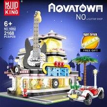 LED Bricks Architecture City Guitar-Shop Moc Creator Building-Blocks Children Toys Street-Series