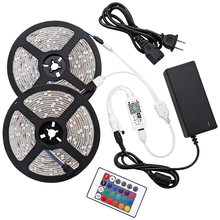 RGB LED Strip Light SMD5050 10M Waterproof RGB Tape DC12V Ribbon diode led Strips lamps Home Decoration Lighting Led Strips RGB Lights Flexible Waterproof Led Tape RGB 10m (32.8ft) with Music or WIFI controller Strip(China)