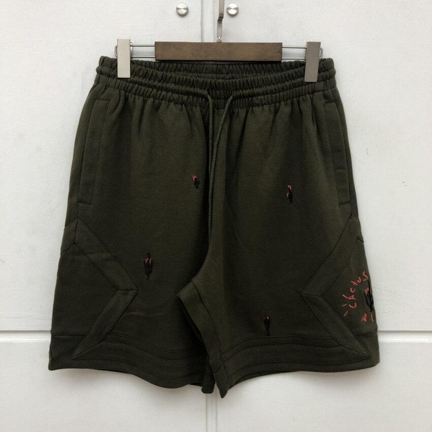 Embroidery Cactus Travis Scott AstroWorld Shorts Men Women Summer Trunk 3 Options Unisex Drawstring Shorts