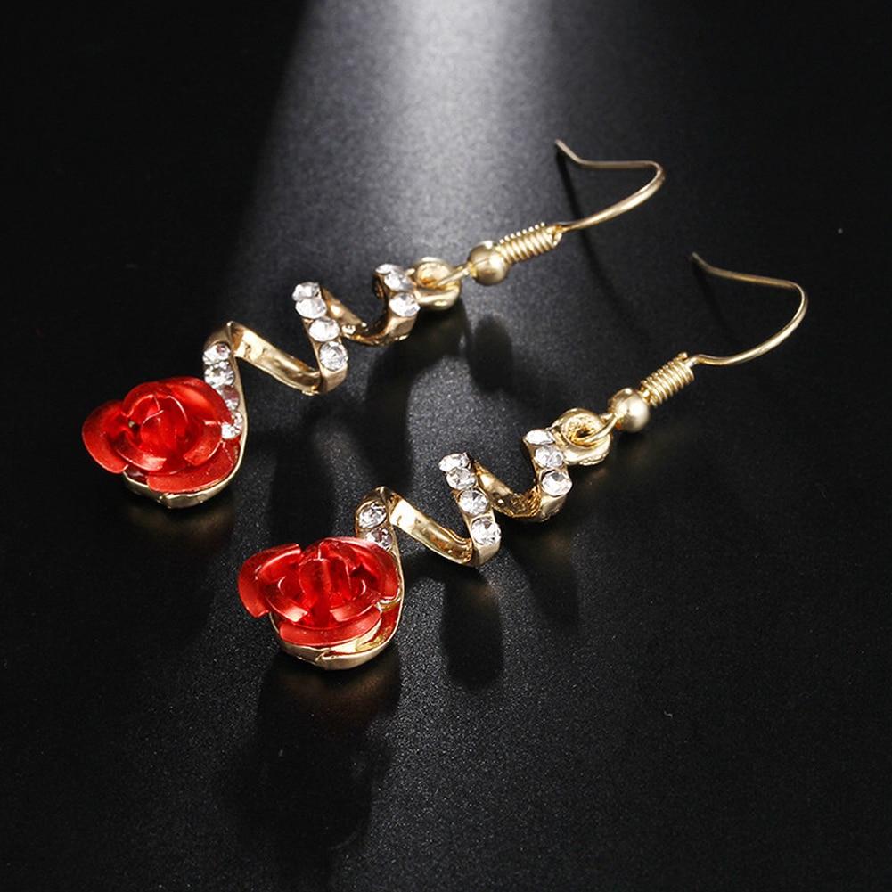 Emerald Cut Created Red Ruby Clip Earrings