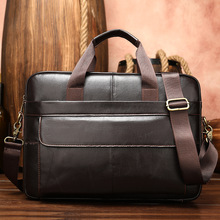 Briefcase-Bag Laptop-Bag Business-Tote Document Westal Office Portable Genuine-Leather