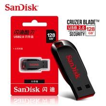 الأصلي SanDisk CZ50 القلم محركات 8 جيجابايت 16 جيجابايت محرك فلاش USB 32 جيجابايت 64 جيجابايت USB 2.0 ذاكرة عصا بندريف دعم التحقق الرسمي