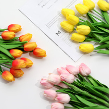 10 pcs/lot real touch tulip flowers pu artificial calla flower high quality tulipany for hotel room decoration H0116