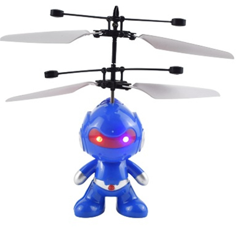 Mini RC Drone Flying RC Helicopter Aircraft Rc Drone Infrared Induction LED Light Remote Control Drone Dron Kids Toys Gift
