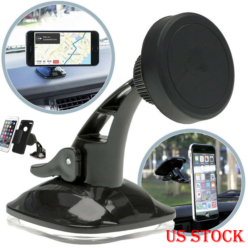 Universal Magnetic Mount Car Windscreen Suction Holder Stand For Mobile Cell Phone GPS