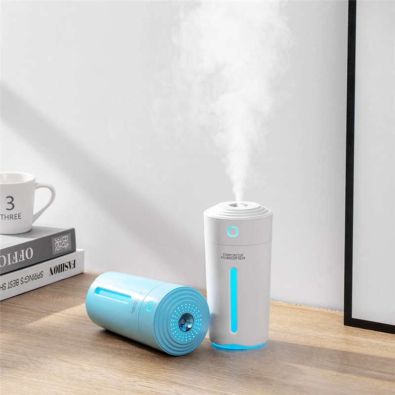 280ML Air Humidifier With Battery USB Ultrasonic Aroma Diffuser For Home Office Portable Car Mist Maker Humidification