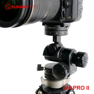 Image 5 - SUNWAYFOTO GH PRO II For Sony Nikon Canon DSLR Camera Panorama Head Arca Swiss Tripod Gear Head Panoramic Head