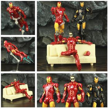 Iron Man Marvel teraz MK4 MK6 Mark IV VI pancerz 6 #8222 figurka film Tony Stark okulary Sofa KO #8217 s ML legendy zabawki lalki Model tanie i dobre opinie Disney CN (pochodzenie) Unisex 6inch Wersja zremasterowana Wyroby gotowe Zachodnia animacja Produkty na stanie 1 12 Film i telewizja