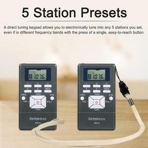 Image 5 - 10 Chiếc Retekess PR13 Radio FM Stereo DSP Di Động Máy Thu Vô Tuyến Đồng Hồ Kỹ Thuật Số Hướng Dẫn Giáo Hội Hội Nghị Huấn Luyện