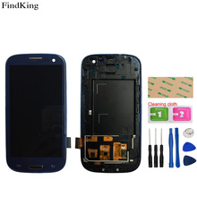 LCD Display With Frame For SAMSUNG Galaxy S3 i9300 Touch Screen Digitizer For SAMSUNG S3 i9300 lcd Assembly Repair Parts Tools