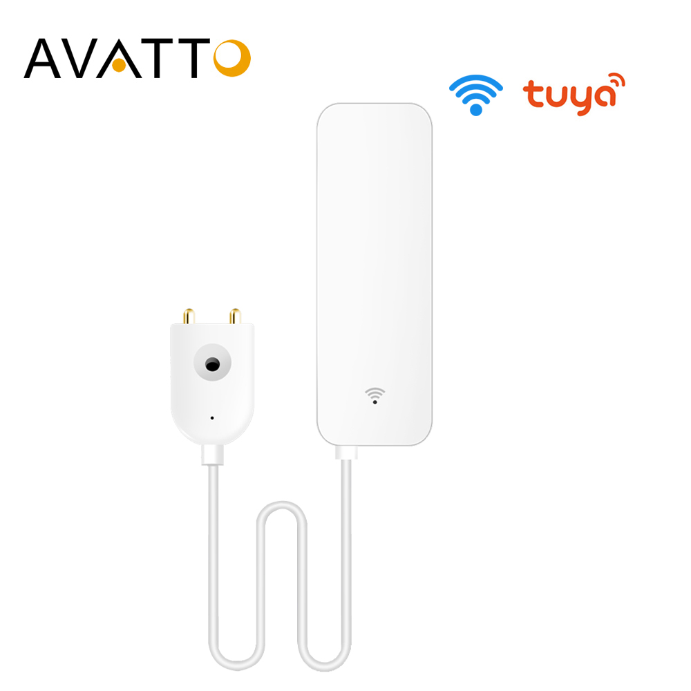 AVATTO Tuya WiFi Water Leak Sensor Water Leak Detector Smartlife APP Notification AlertsWater Flood Leak Alarm Home Security