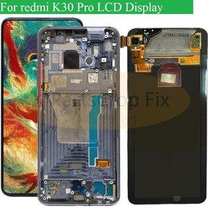 Image 1 - 6.67 סופר AMOLED עבור Xiaomi Poco F2 Pro LCD תצוגת מסך מגע Digitizer תחליפי חלקים עבור Xiaomi redmi k30 פרו LCD