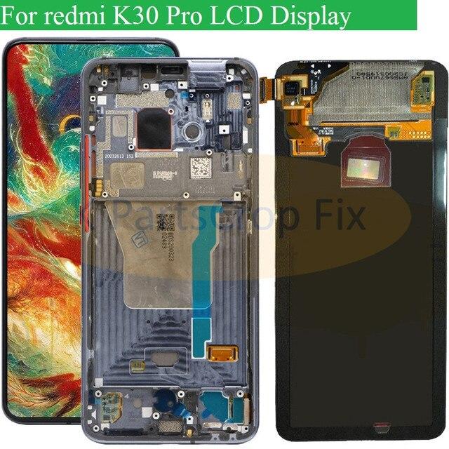 6.67 Super AMOLED dla Xiaomi Poco F2 Pro wyświetlacz LCD ekran dotykowy Digitizer zamienniki części dla Xiaomi redmi k30 pro LCD