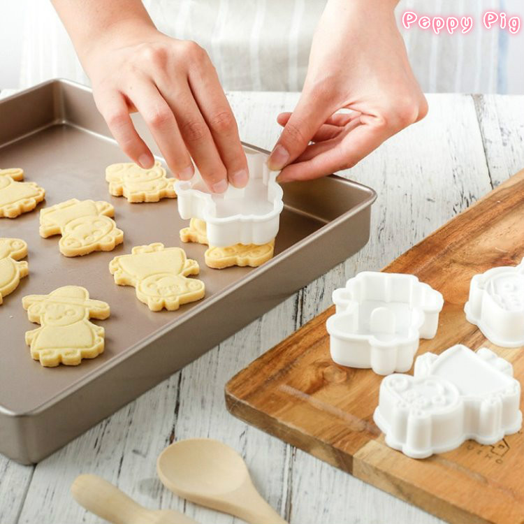 Peppy Pig Cake Cookie Cutter Plastic 3D Baking Mould  Cookie Cutter Set Cartoon Model Biscuit Baking Tools Decoration Tools